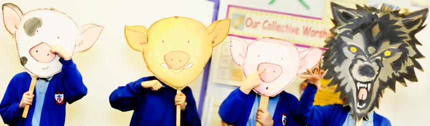 image three pigs masks