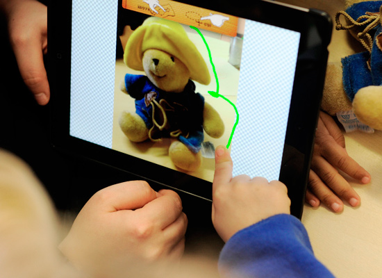 ipad teddy image