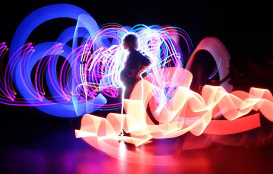 light sculpture image