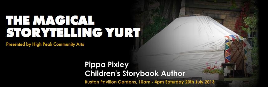 storytelling yurt banner